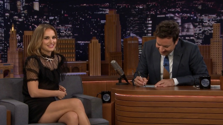 Natalie Portman at the Jimmy Fallon Show