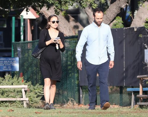 Exclusive... Pregnant Natalie Portman & Benjamin Millepied Out And About In Los Feliz ***NO USE W/O PRIOR AGREEMENT - CALL FOR PRICING***
