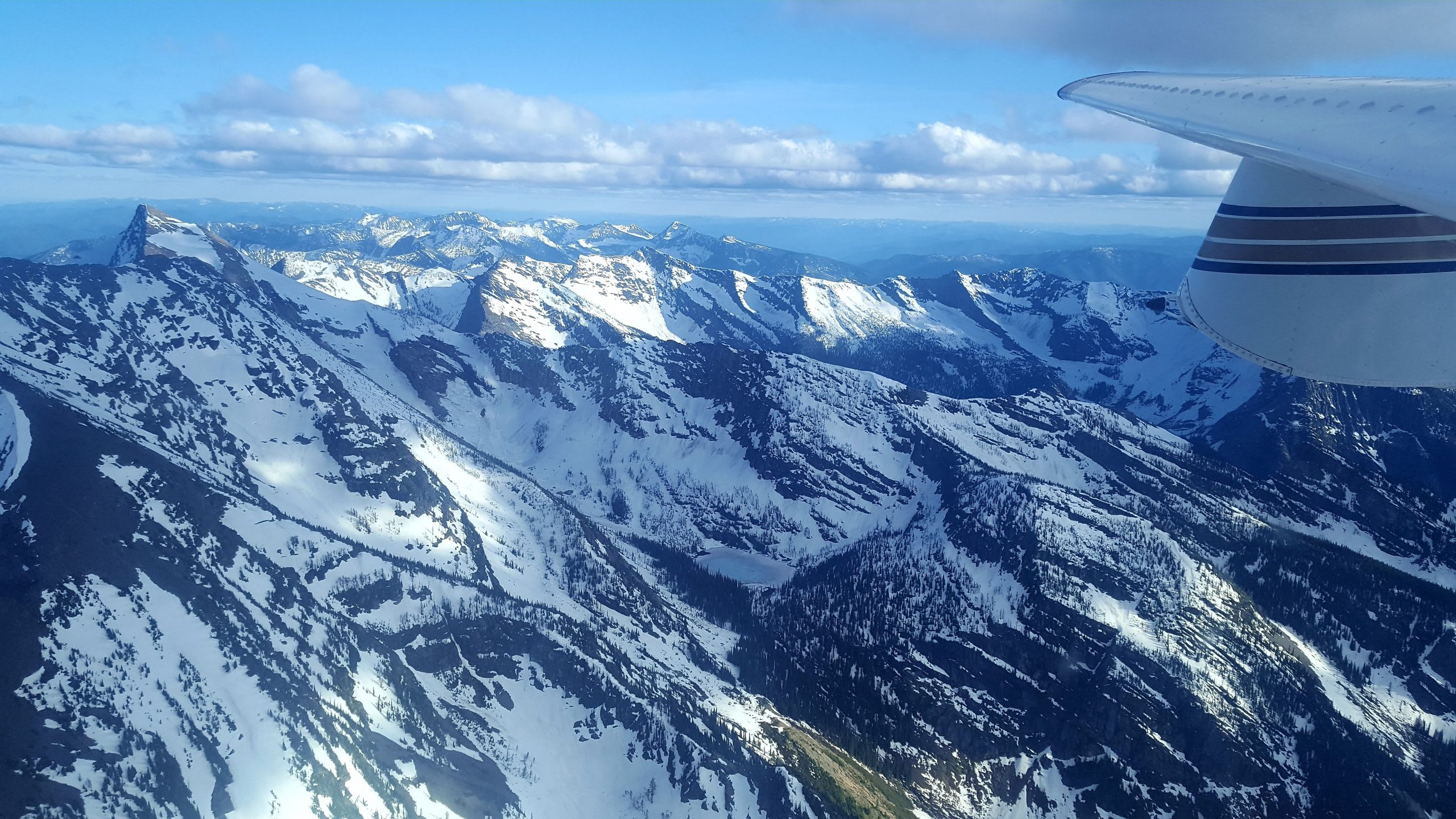 Glacier National Park. Photo taken from a very small plane.