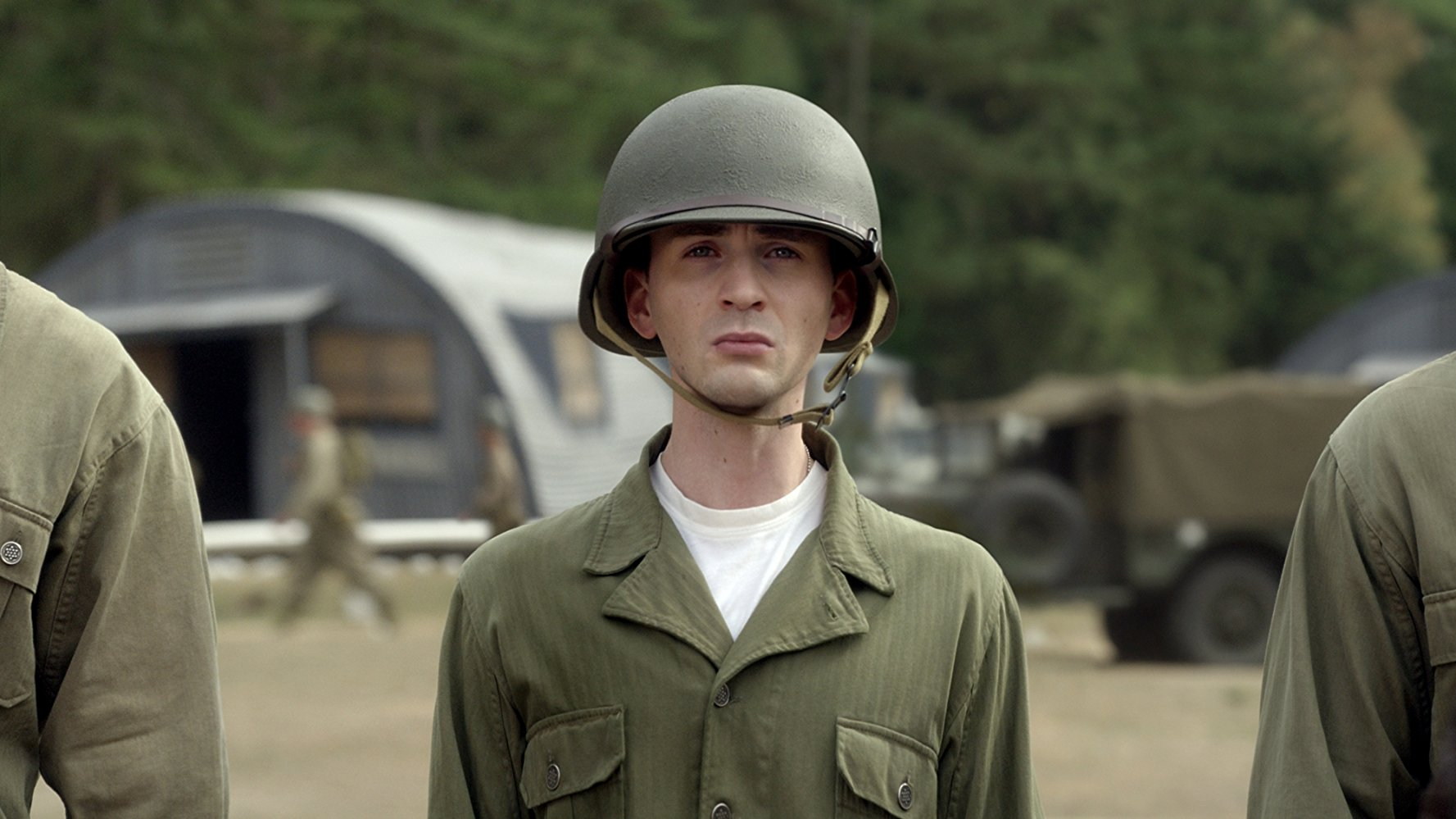 Steve Rogers in basic training before becoming Captain America