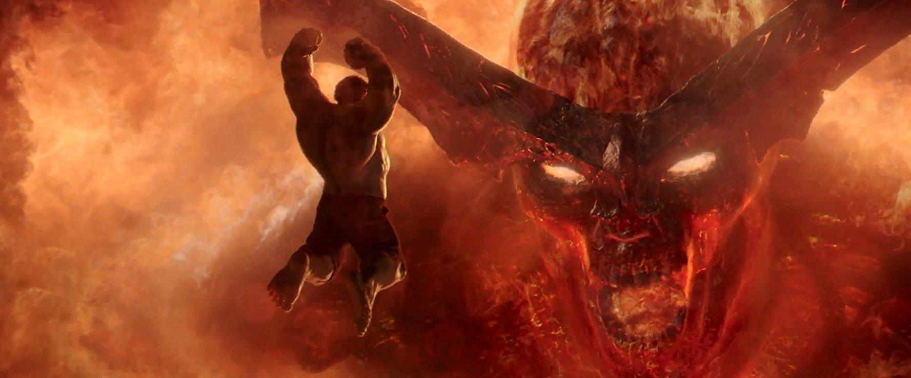 Hulk vs. Surtur in Thor: Ragnarok