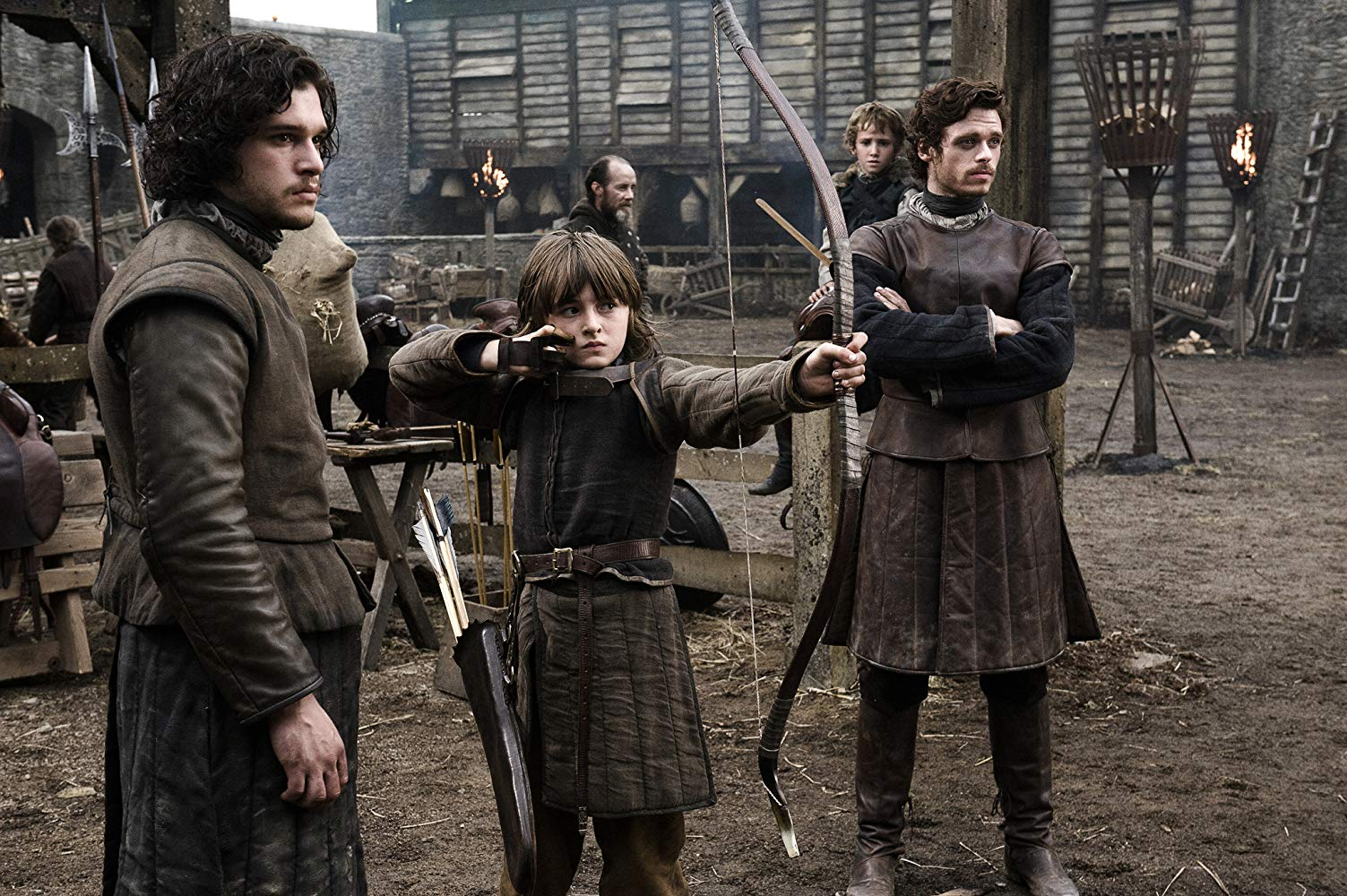 Jon, Bran, Robb, and Rickon