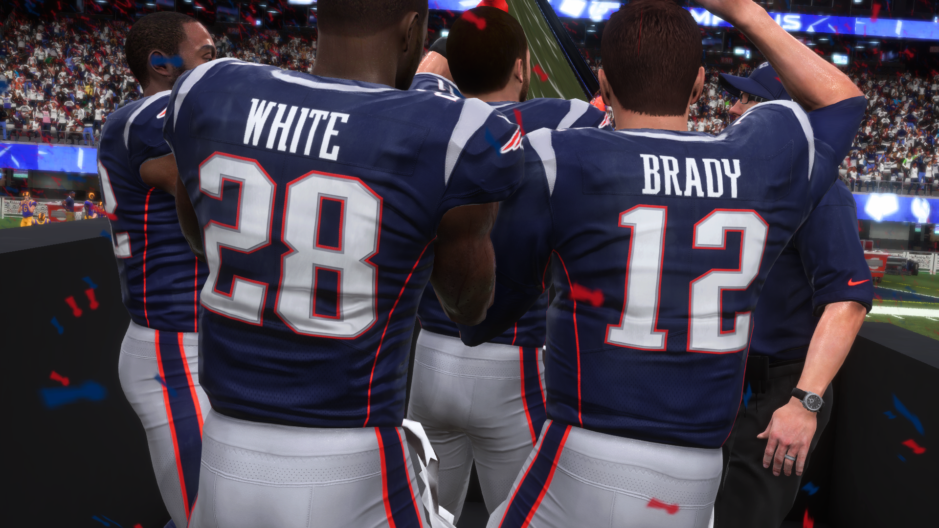 Patriots win in madden 19