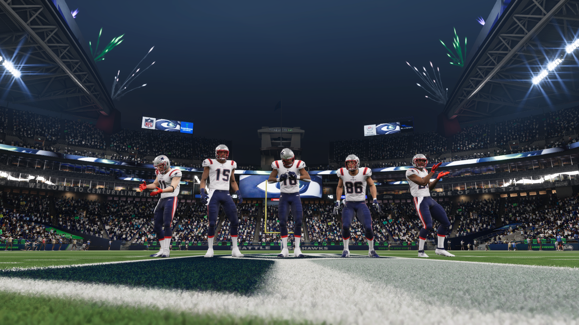 The Patriots in Madden 21