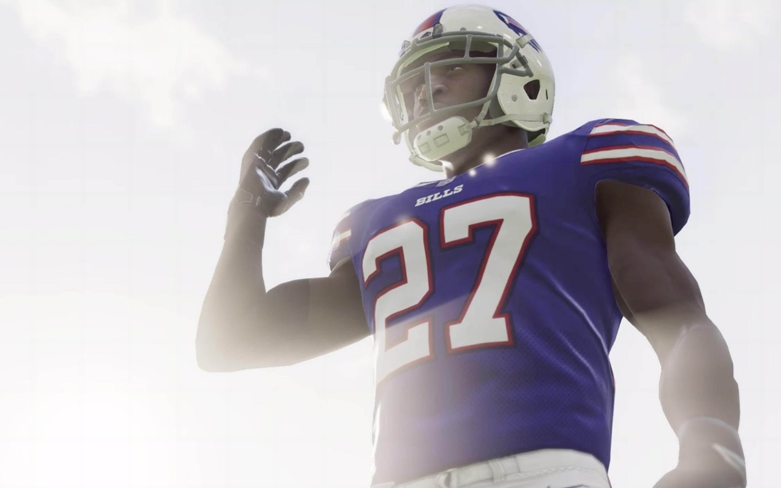 Bills player in Madden 21