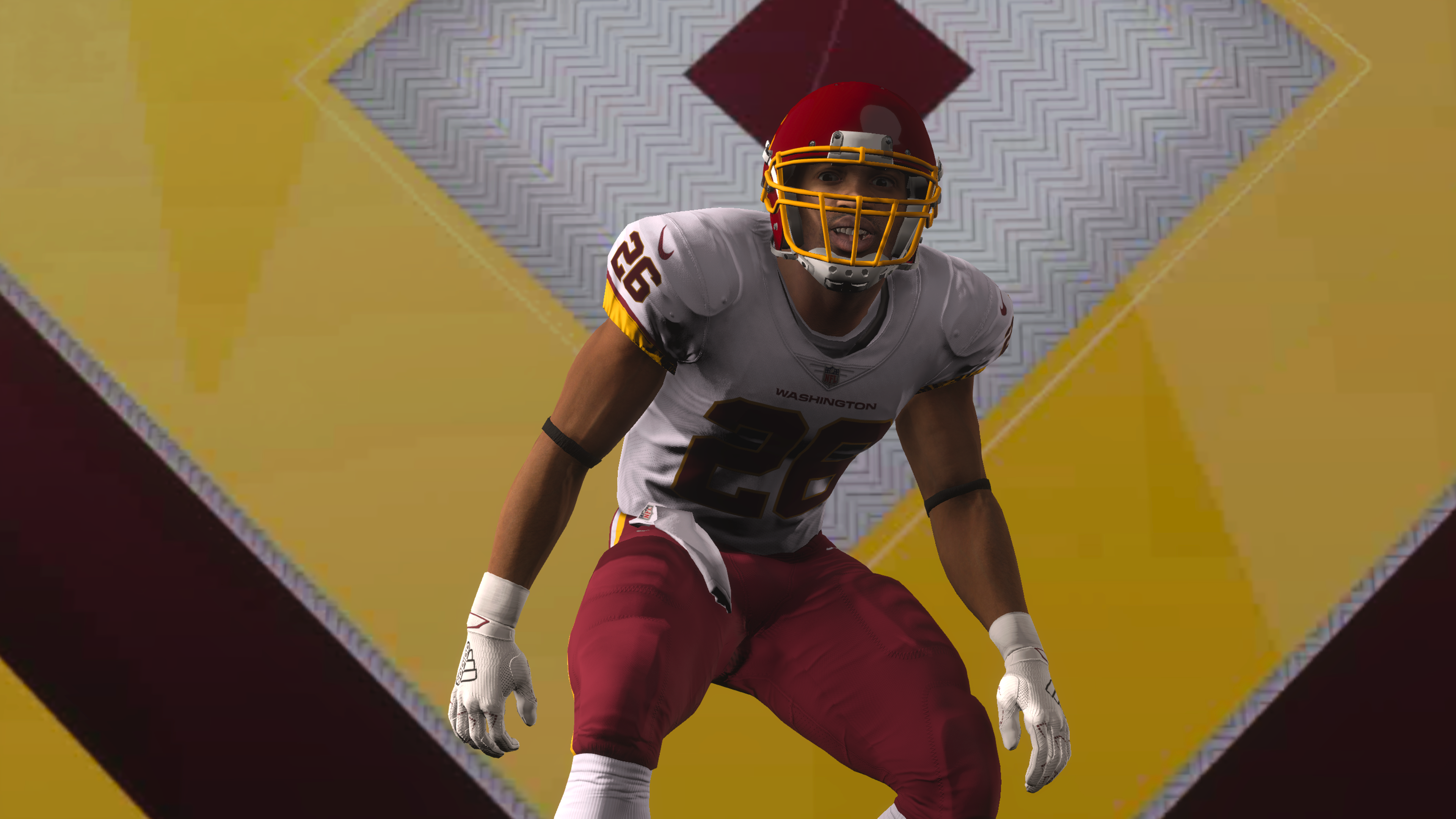 A Washington Football Team player in Madden 21
