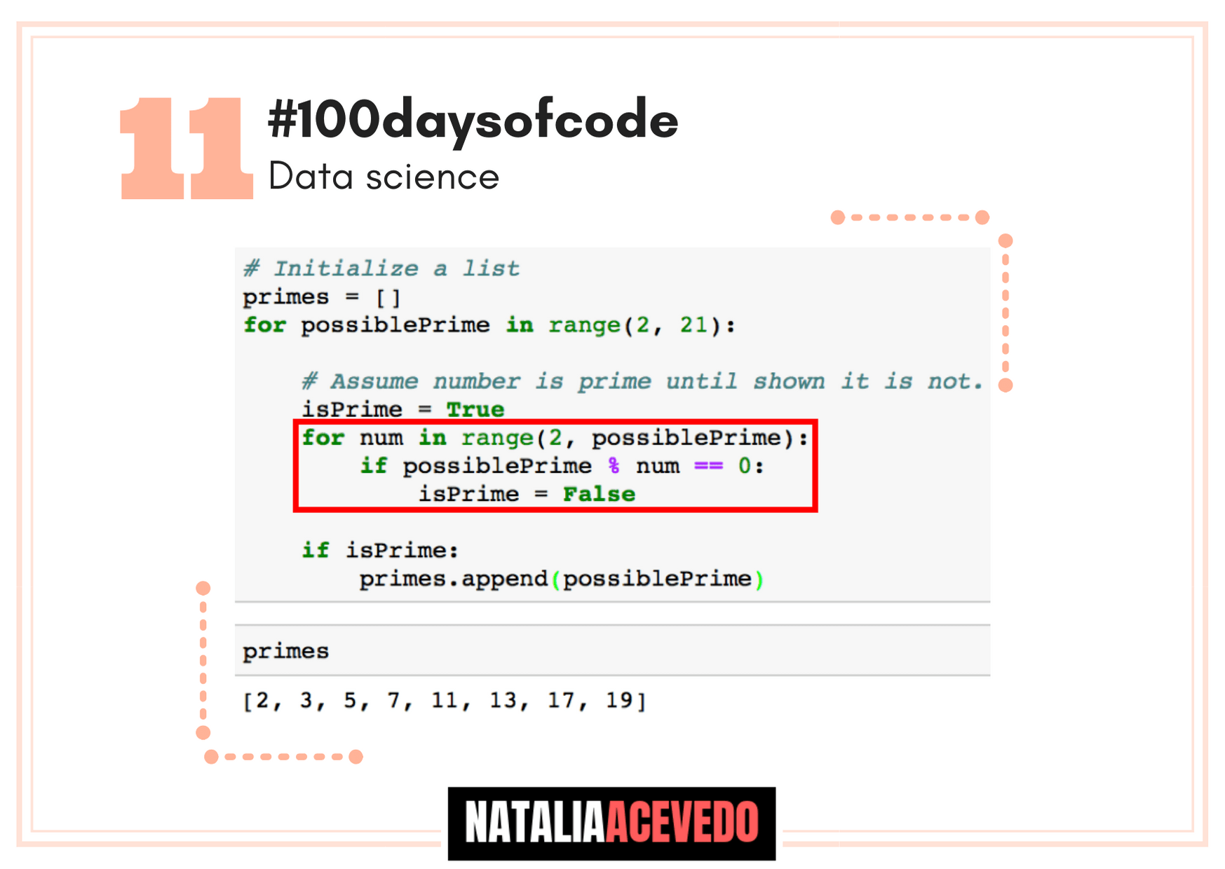Día 11 #100daysofcode in #datascience Lists & Loops
