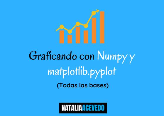 Graficando con Numpy y matplotlib.pyplot (Todas lasbases)