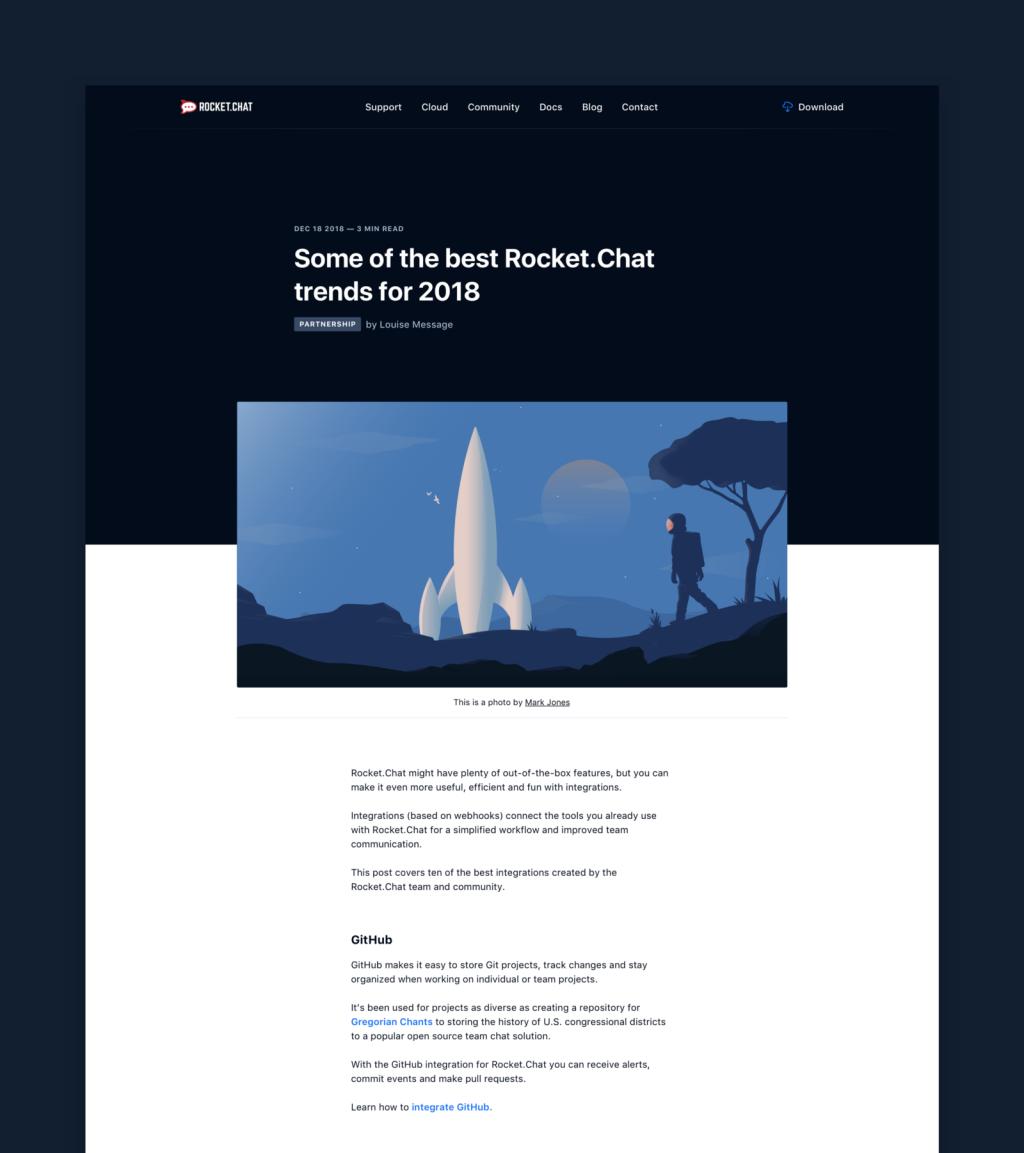 Rocket.Chat Blog Article