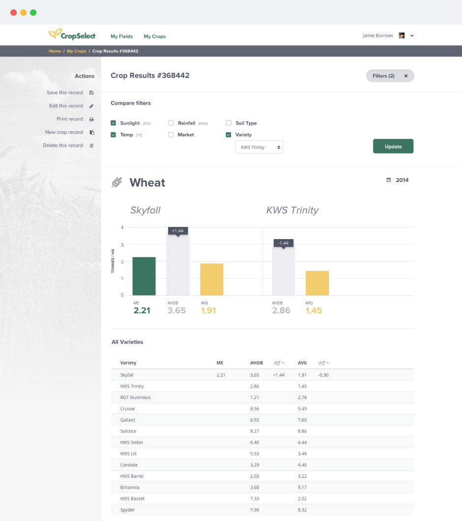 Crop Select Web App