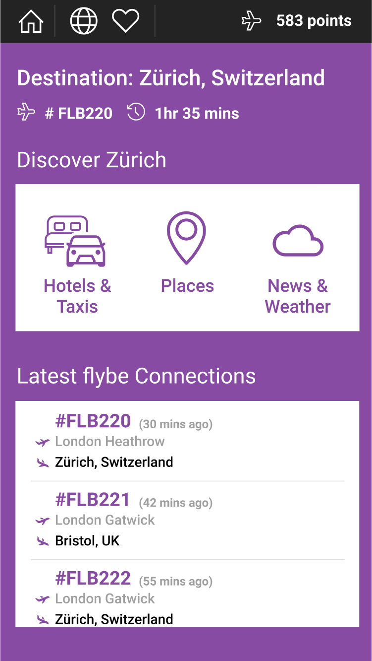 Flybe Connected Loyalty App