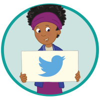 Tweet us illustration