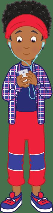 Illustration of Deena on a phone