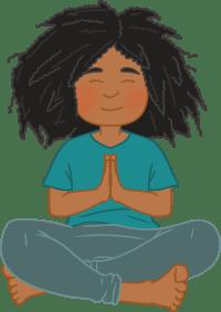 Illustration of Gem meditating