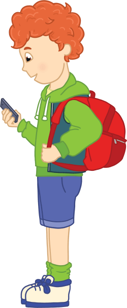 Illustration of Billy with his phone