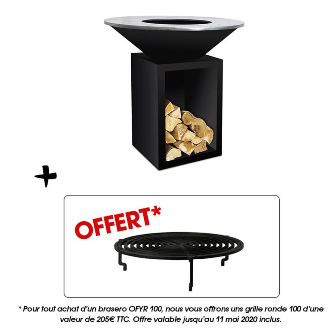 Pack Brasero Classic Storage Black 100 Pro Et Une Grille Ronde