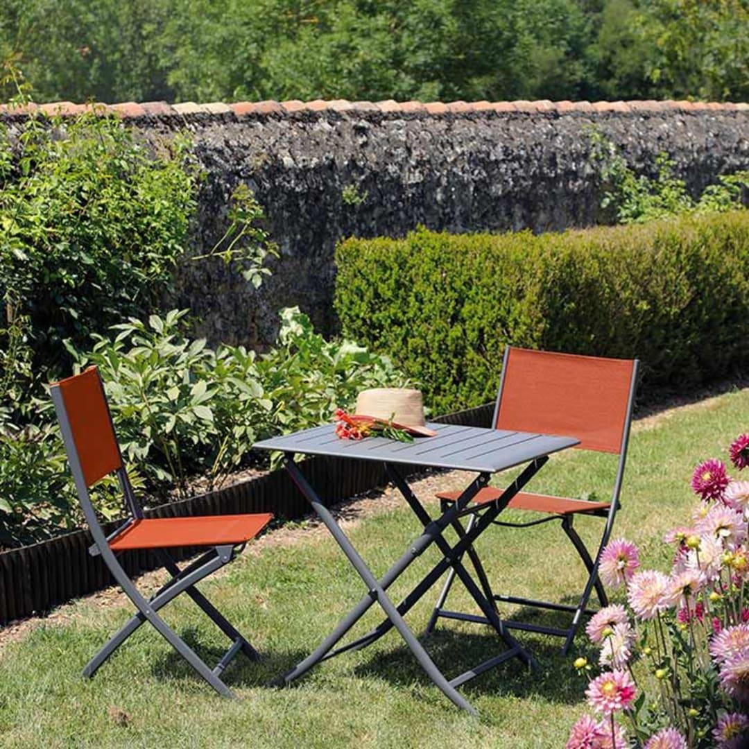 Table Lorita 70x70 + 2 chaises Dream