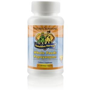Sunshine Heroes Whole Foods Papayazyme (90 Chewable Tablets)