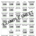 NSP Retail Product Shelf Tags - One Set Of All Products