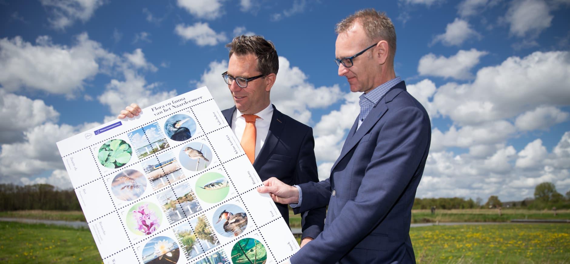 Vergezichten Naardermeer vereeuwigd op postzegel