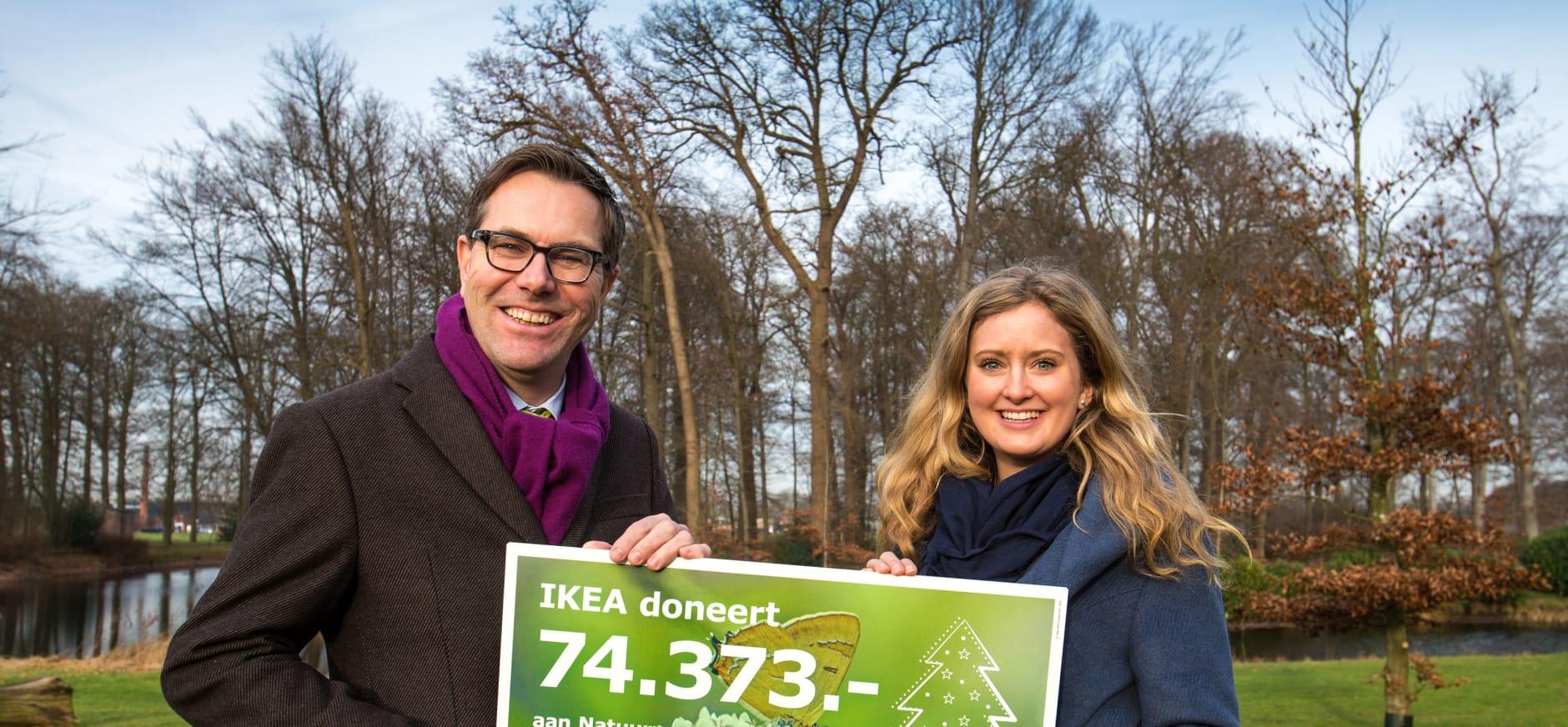 Natuur 74.373 euro rijker door kerstboomactie IKEA