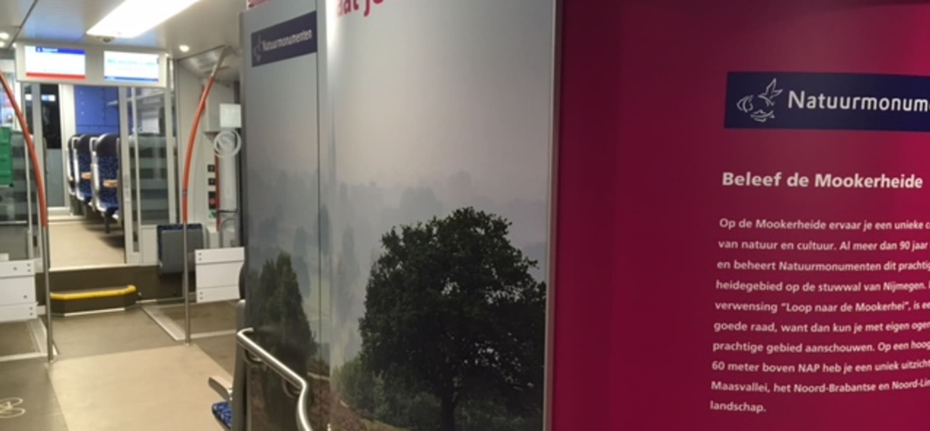Mookerheide en Geuldal uitgelicht in twee Arriva-treinen in Limburg