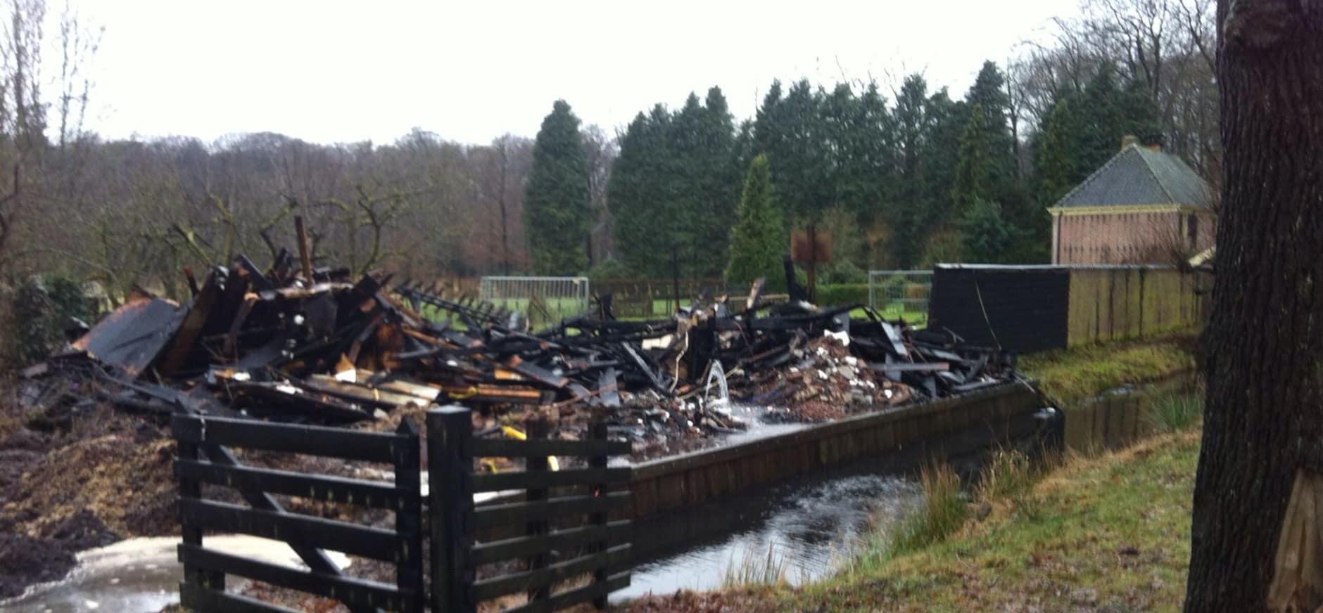 Brand op landgoed Oldenaller