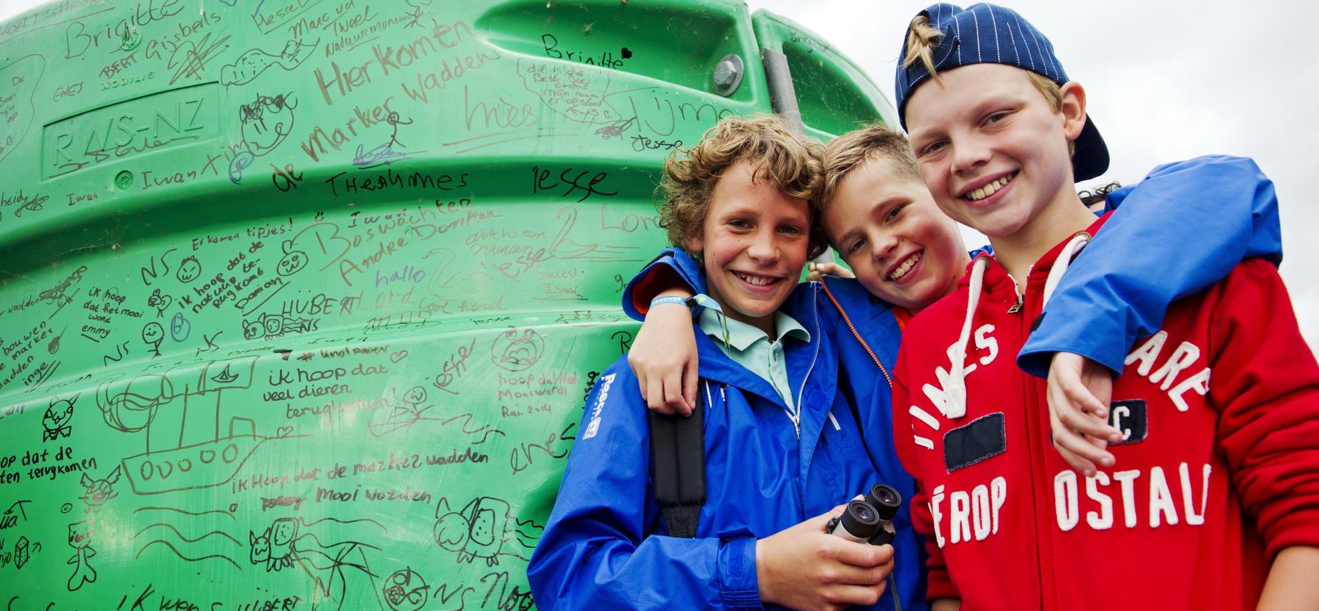Kinderen Lelystad markeren Marker Wadden
