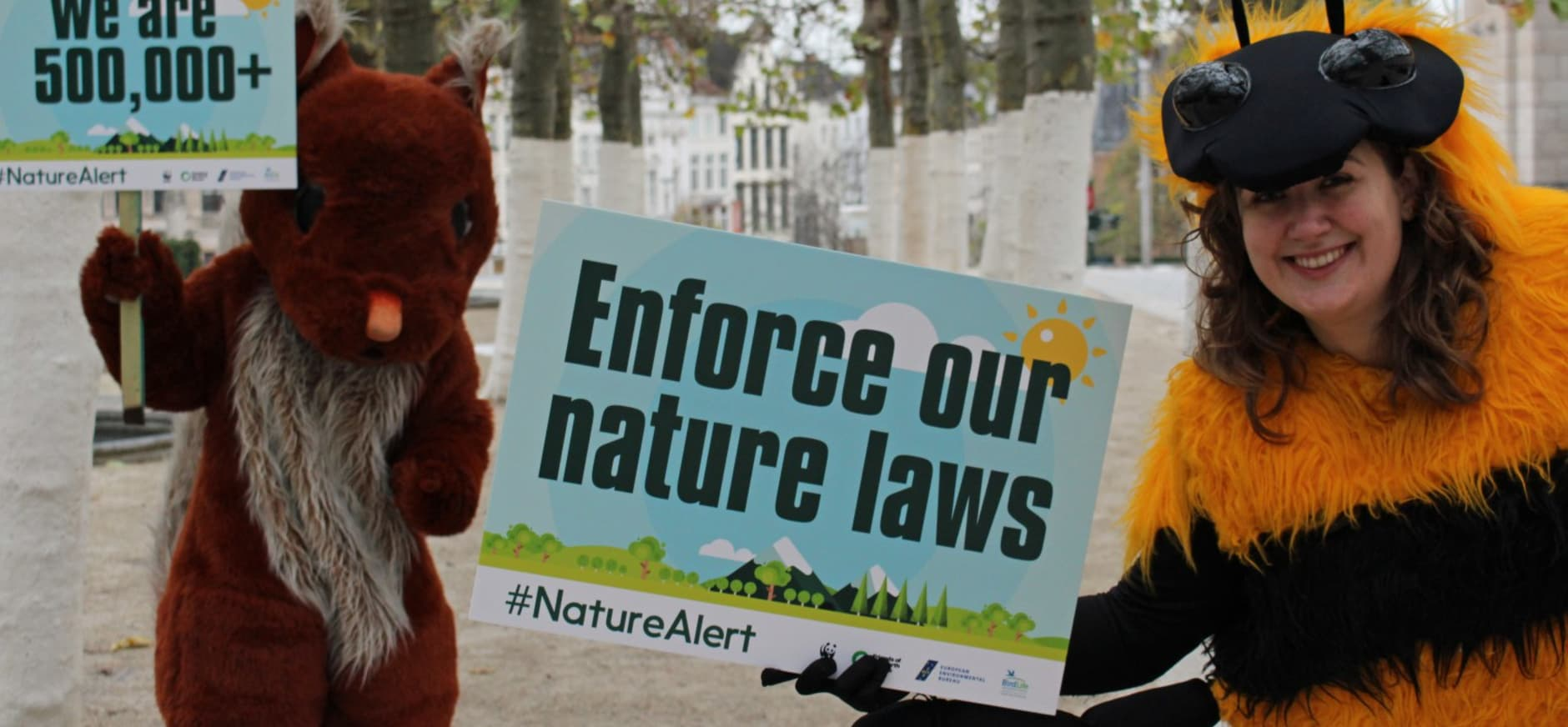 Campagne 'Enforce our Nature Laws' #naturealert