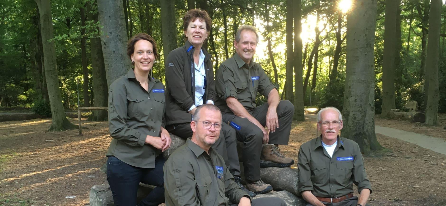 Vrijwillige boswachtersteam Visdonk