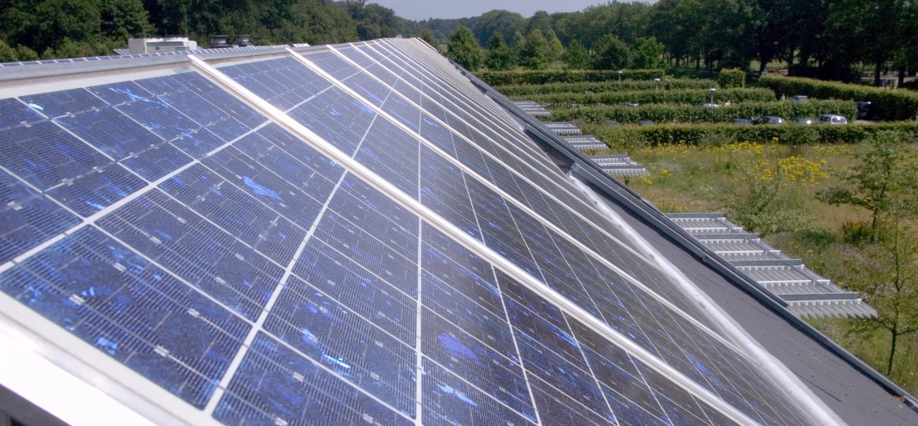 Zonnepanelen op landgoed Schaep en Burgh