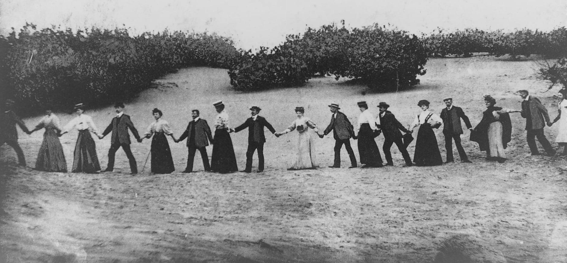feestje in de duinen in 1925