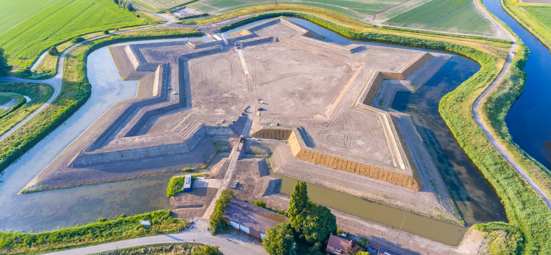 Luchtfoto Fort Henricus