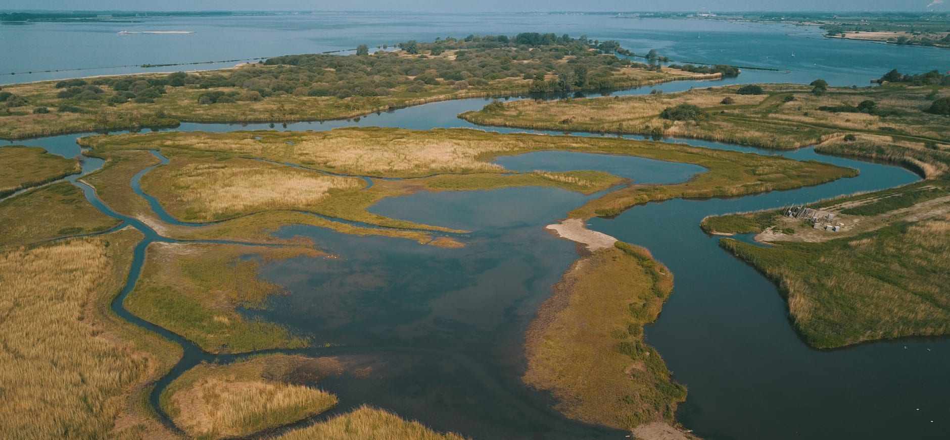 Drone foto Korendijkse Slikken na natuurherstel