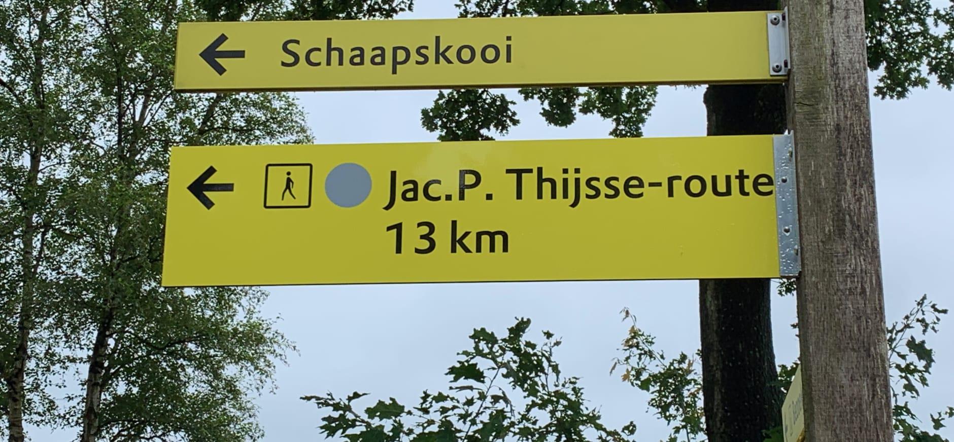 De 13 kilometer Wandelroute