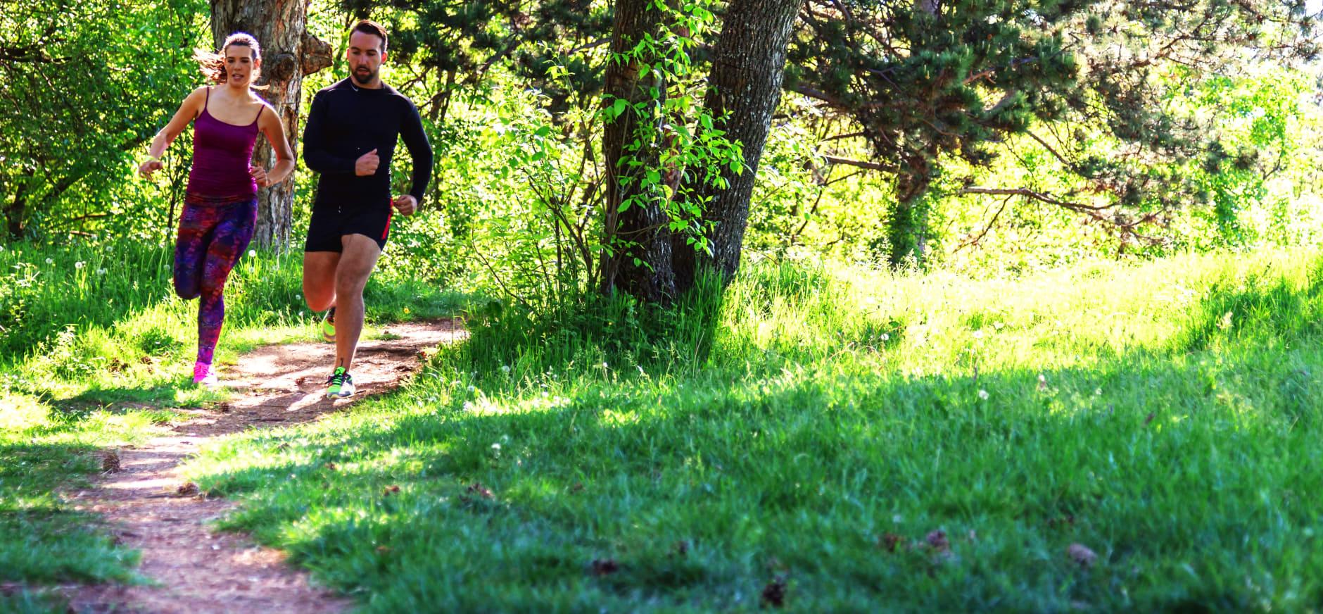 Hardlopen in de natuur