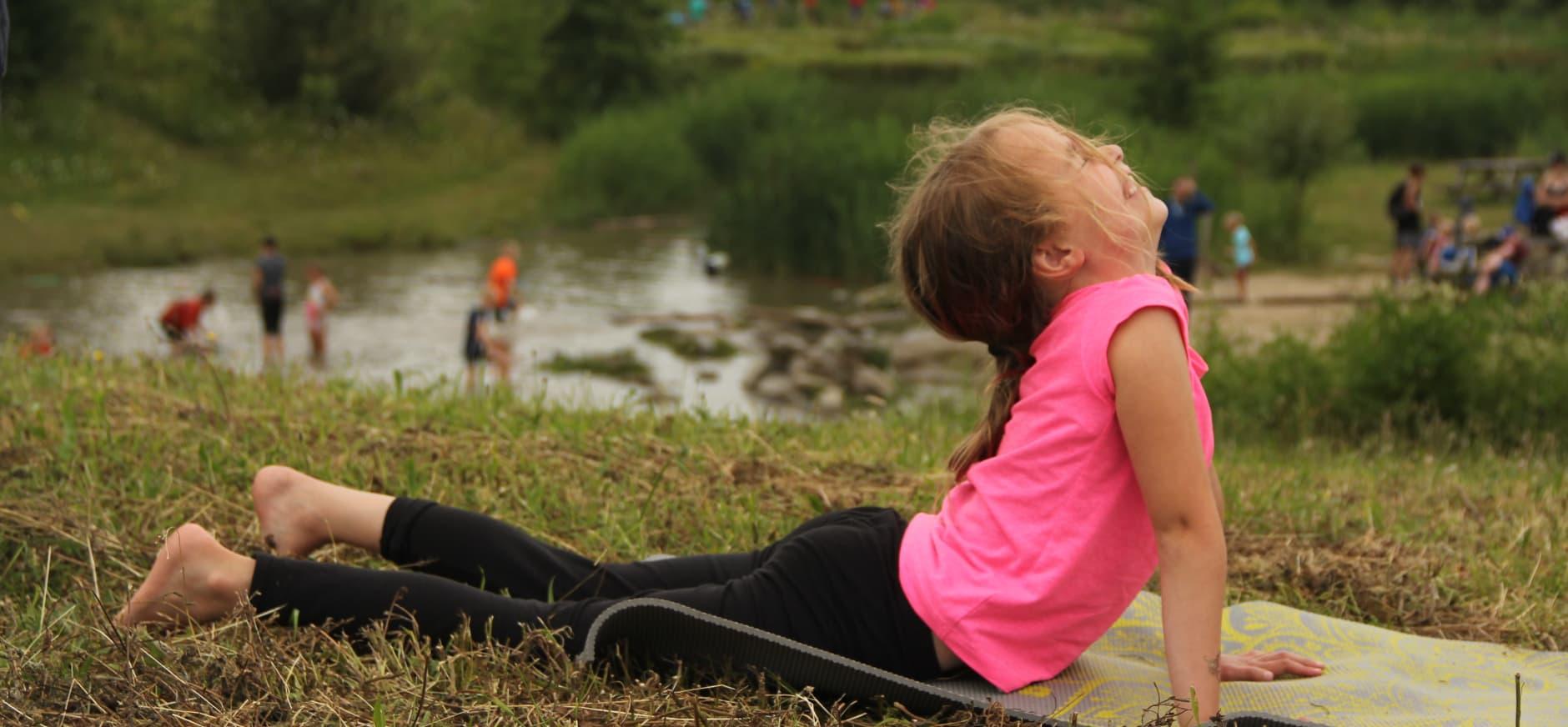 Nieuw op natuureiland Tiengemeten: (kinder) yoga