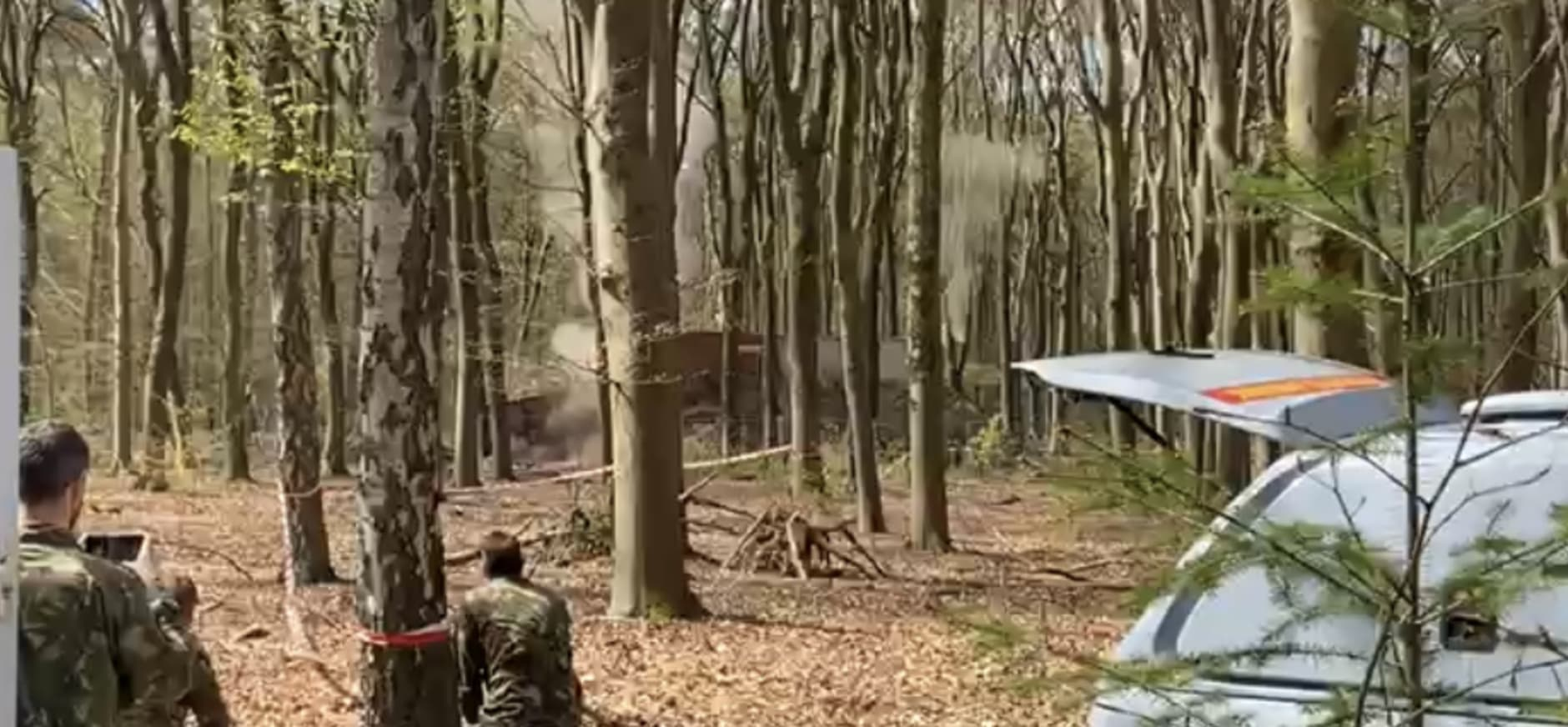 Gecontroleerde ontploffing brandbom WOII Hassinkbos