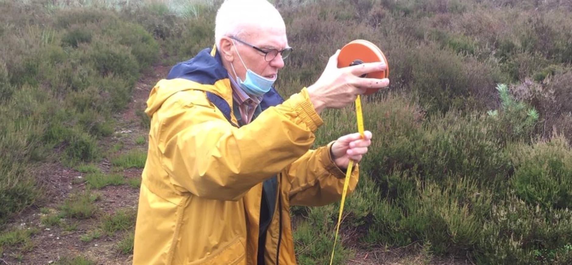vrijwilliger Jacques Dijkman waterpeiler Sallandse Heuvelrug