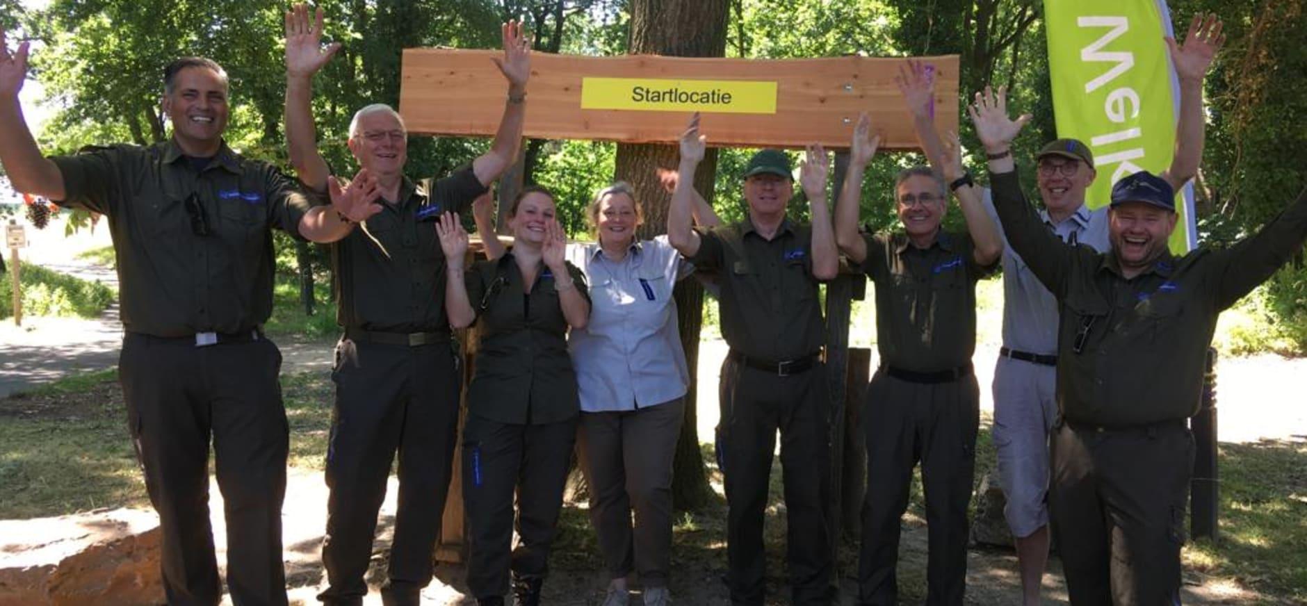 deel van groep vrijwillige boswachters Brunssummerheide