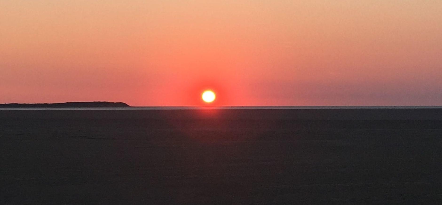 Ondergaande zon Richel