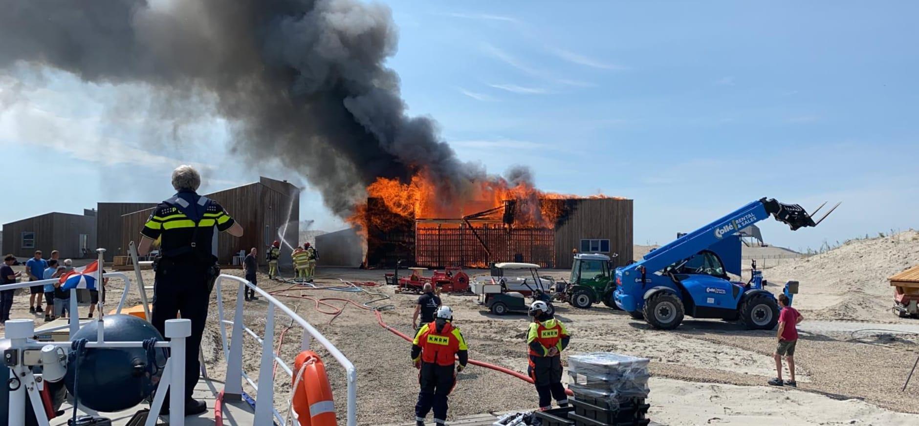 Brand beheerschuur Marker Wadden
