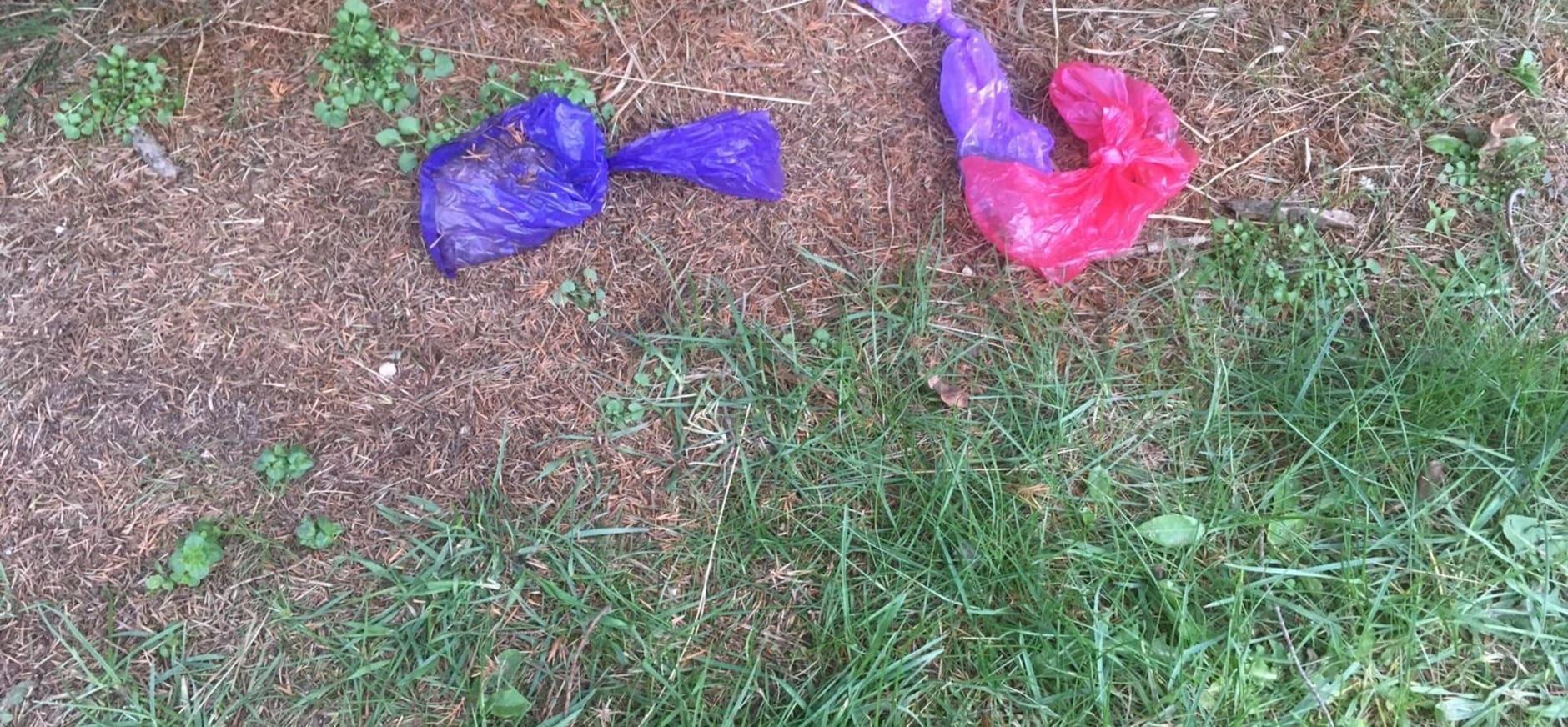 afval poepzakjes