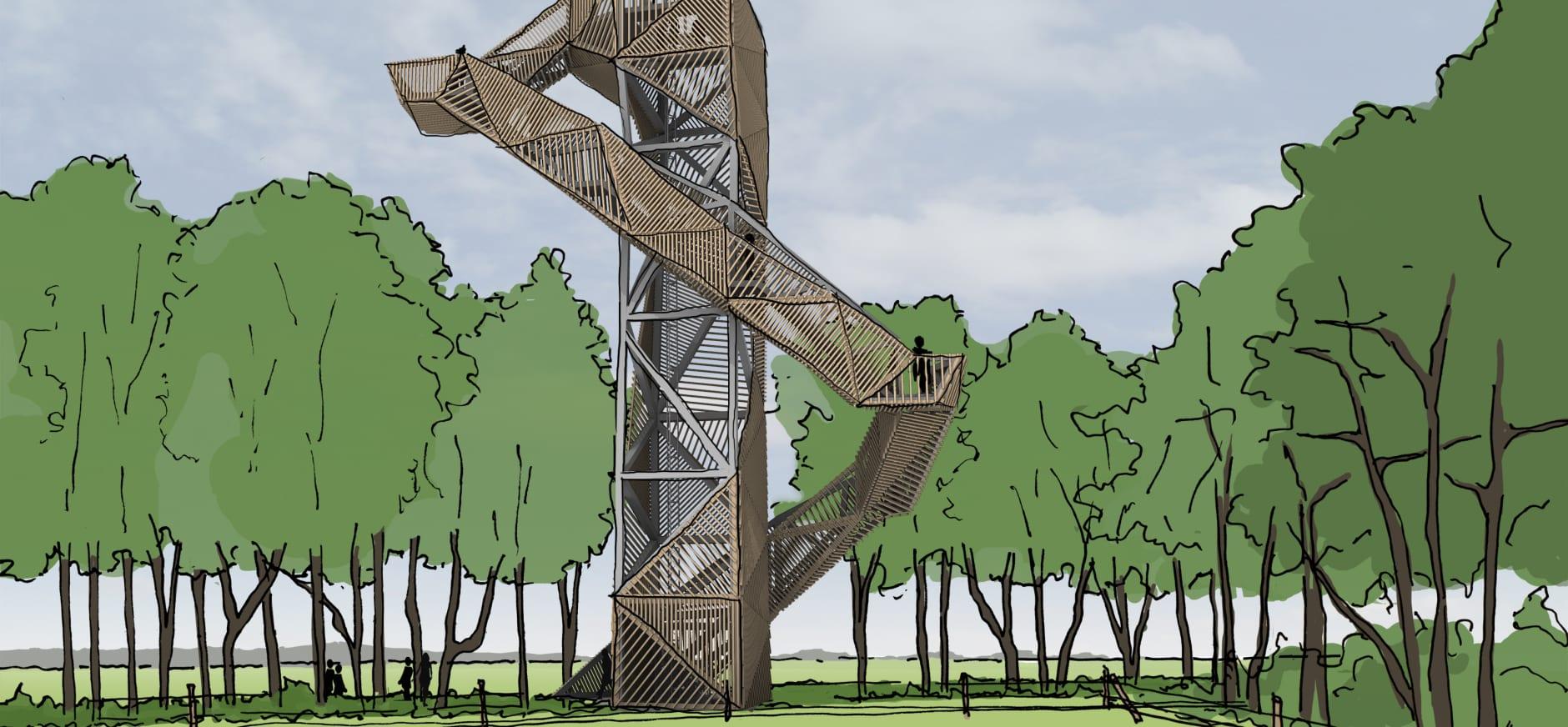 Natuurgebied De Onlanden krijgt nieuwe uitkijktoren