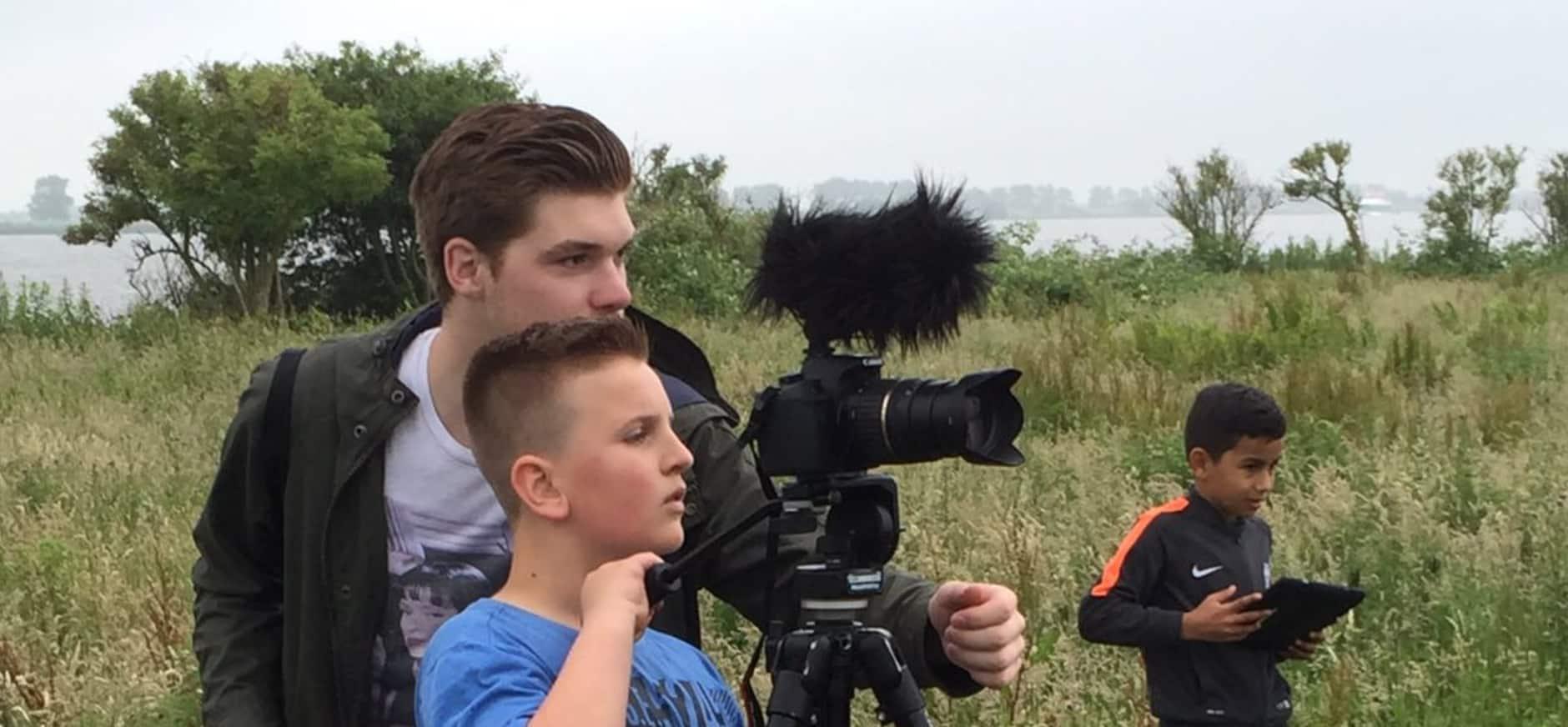 Kinderen maken natuurfilm op Tiengemeten