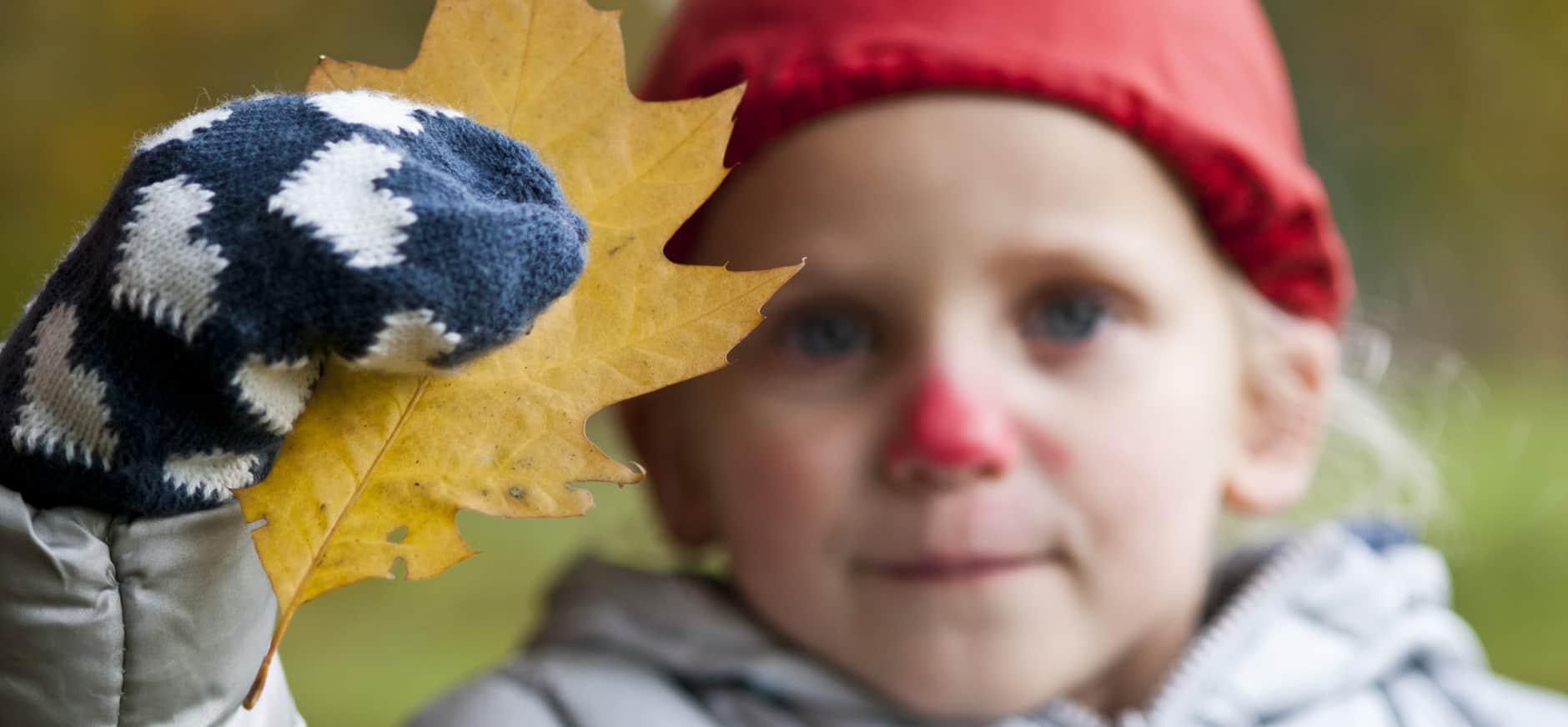 Lekker knutselen en kliederen met herfstbladeren