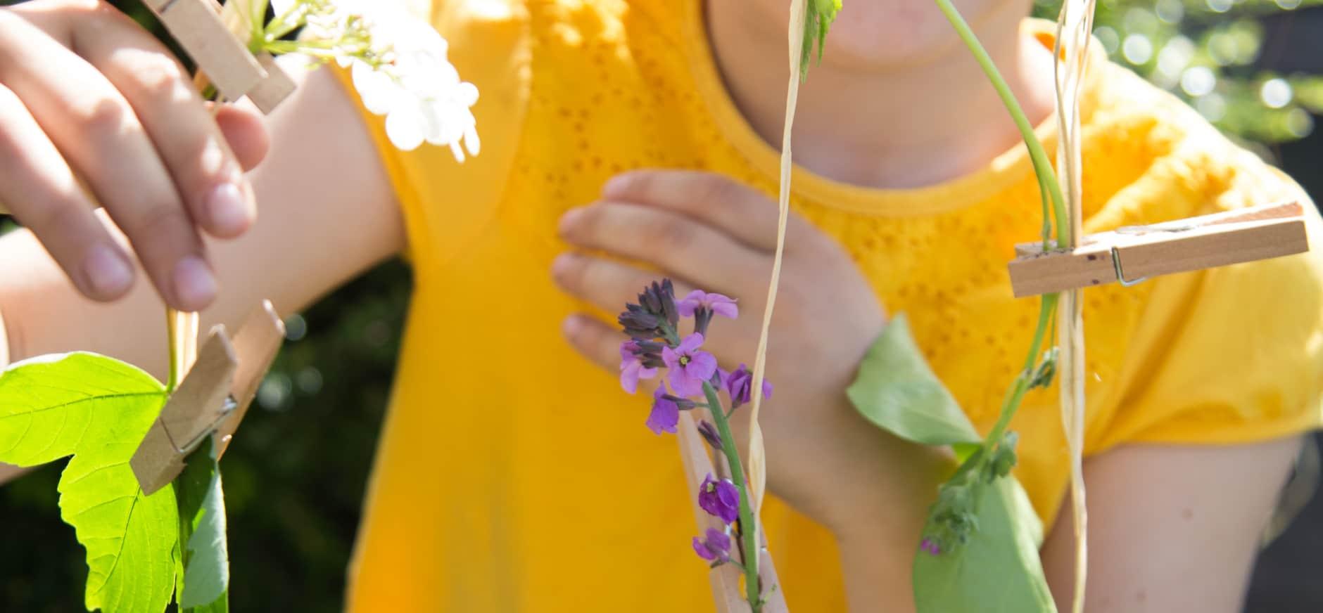 Maak je eigen bloemenslingers
