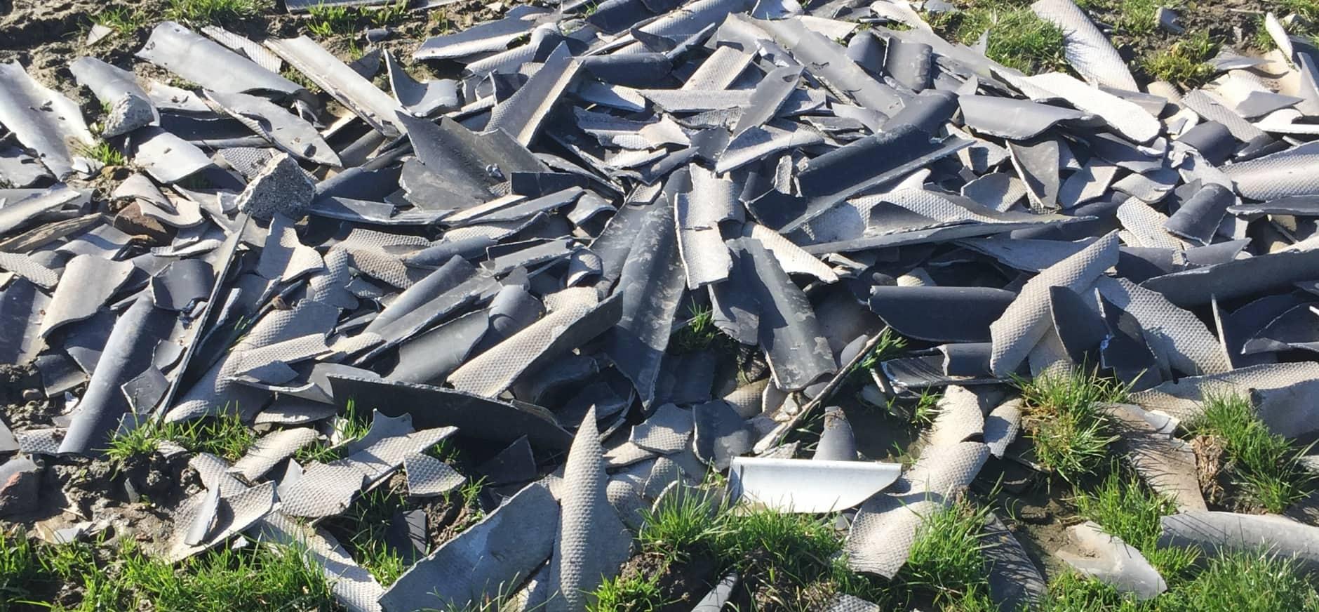 Asbestdumping in Meijegraslanden bij Nieuwkoopse Plassen