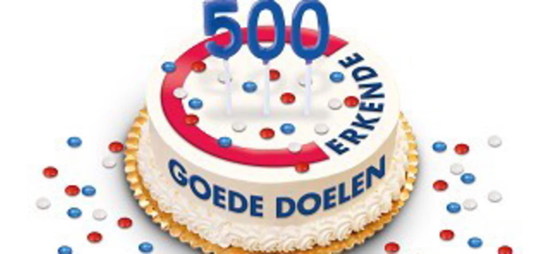 500ste Erkende Goede Doel bekend