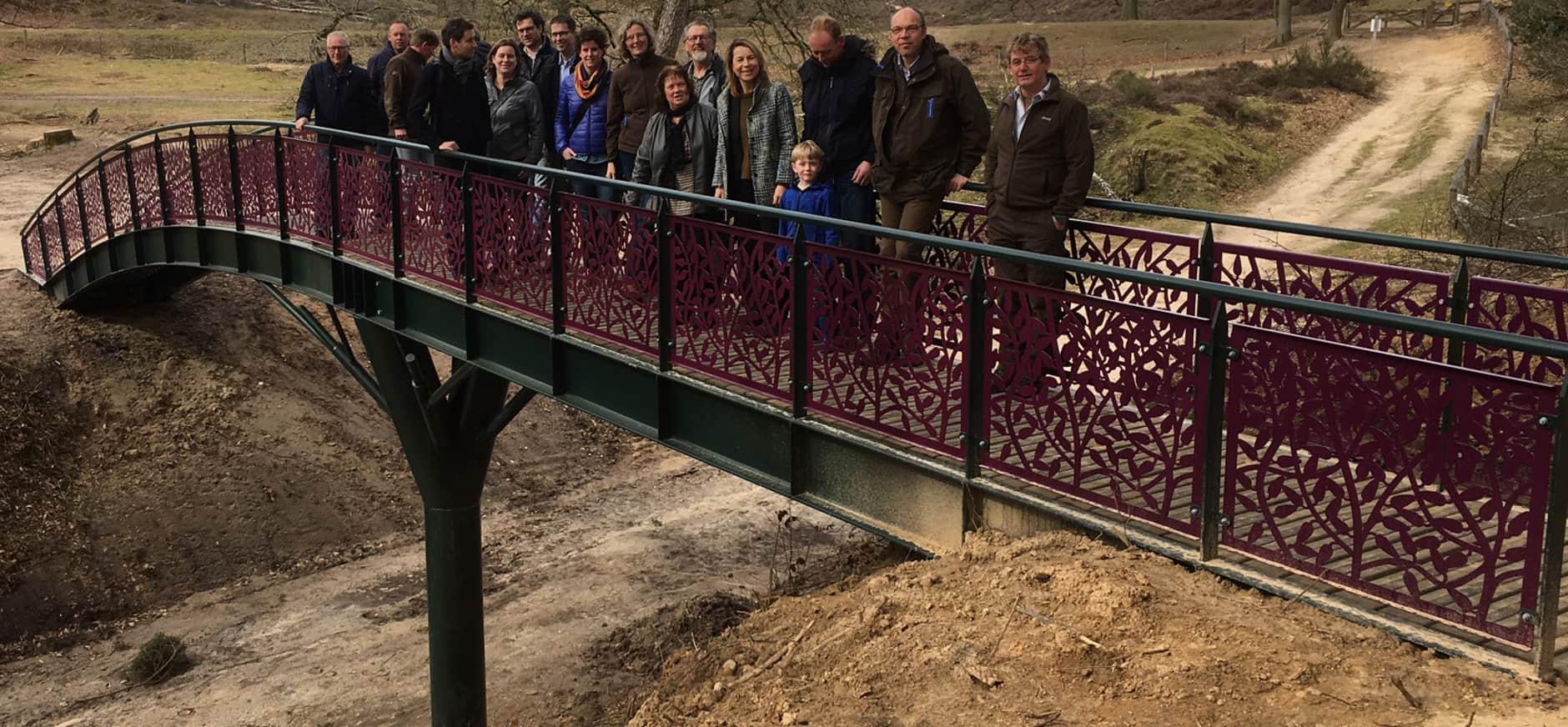 Nieuwe wandelbrug Veluwezoom geopend